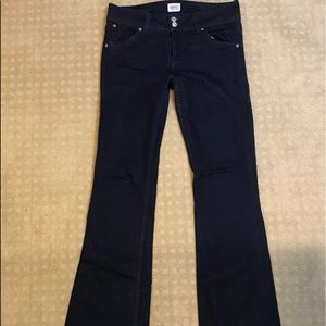 Hudson blue bell bottom jeans, barely worn!
